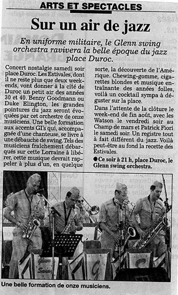 Article de promotion Concert a Pont A Mousson