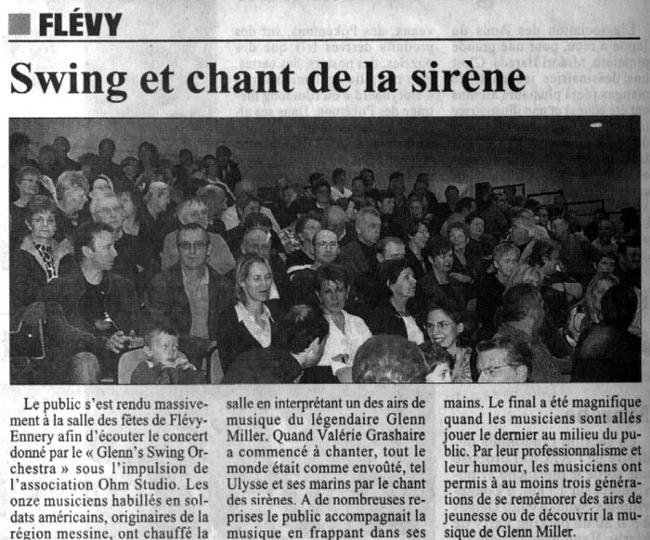 swing et chant de la sirene article de presse concert jazz flevy